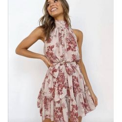fast fashion - high neck floral dress
