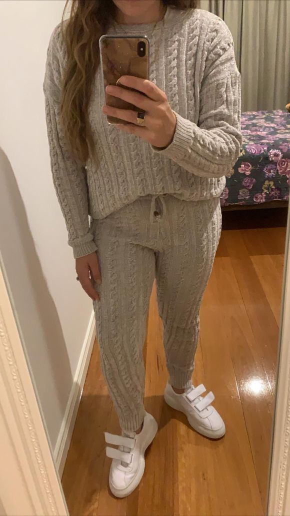 Fast Fashion - Grey Cable Knit Set