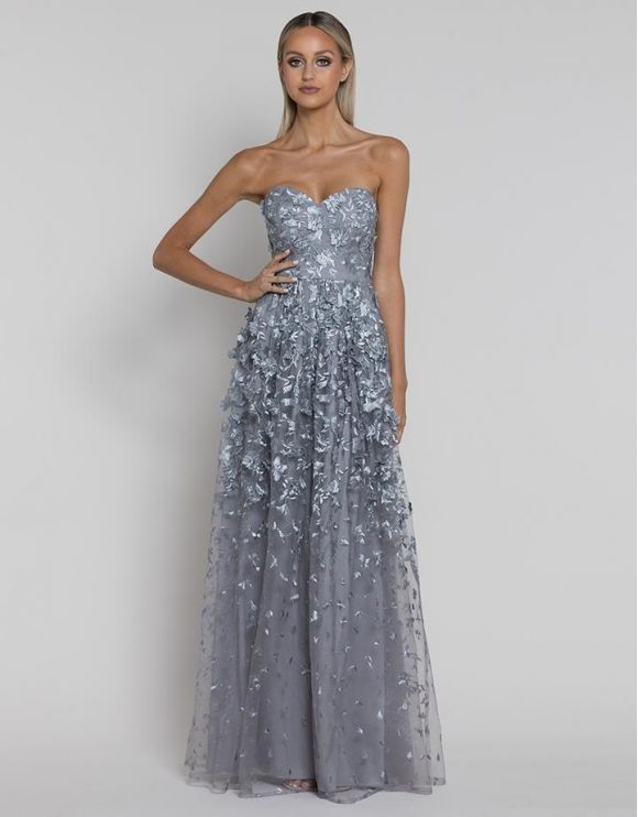 Bariano - Jackie Sweetheart 3D Lace Gown